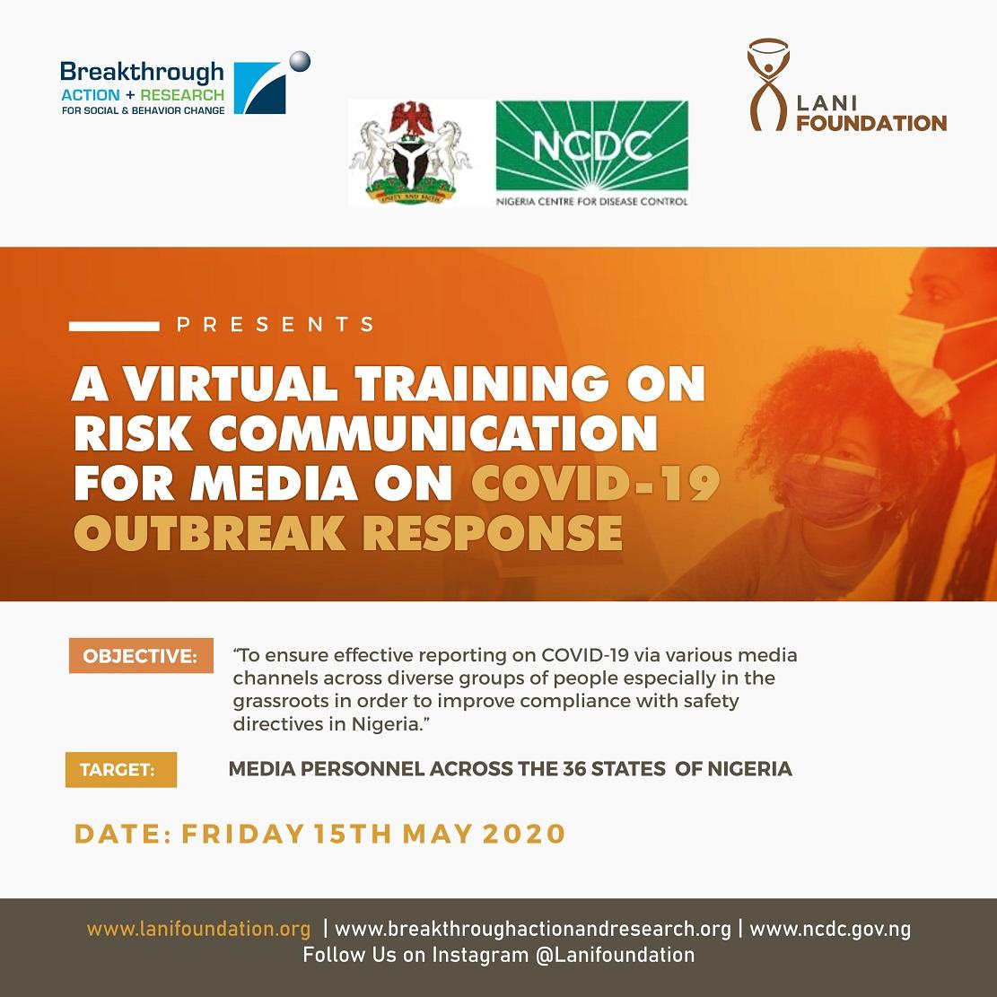 Virtual Training on Risk Communication for Media on COVID-19 Outbreak Response